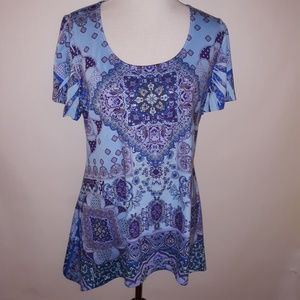 Live And Let Life | Blue Tunic Top